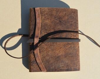 Distressed Pigskin Pocket Journal Diary Notebook (529B)