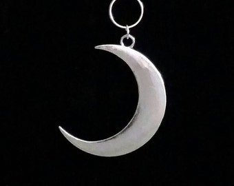 CRESCENT MOON necklace, occult jewelry, moon necklace, gothic, goth, witchcraft, countess bathory, moon goddess, crescent moon, extra long