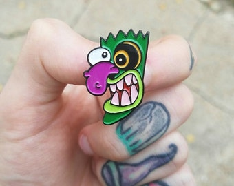 Ooga Booga Booga Enamel Pin - Courage the Cowardly Dog Lapel / Hat Pin