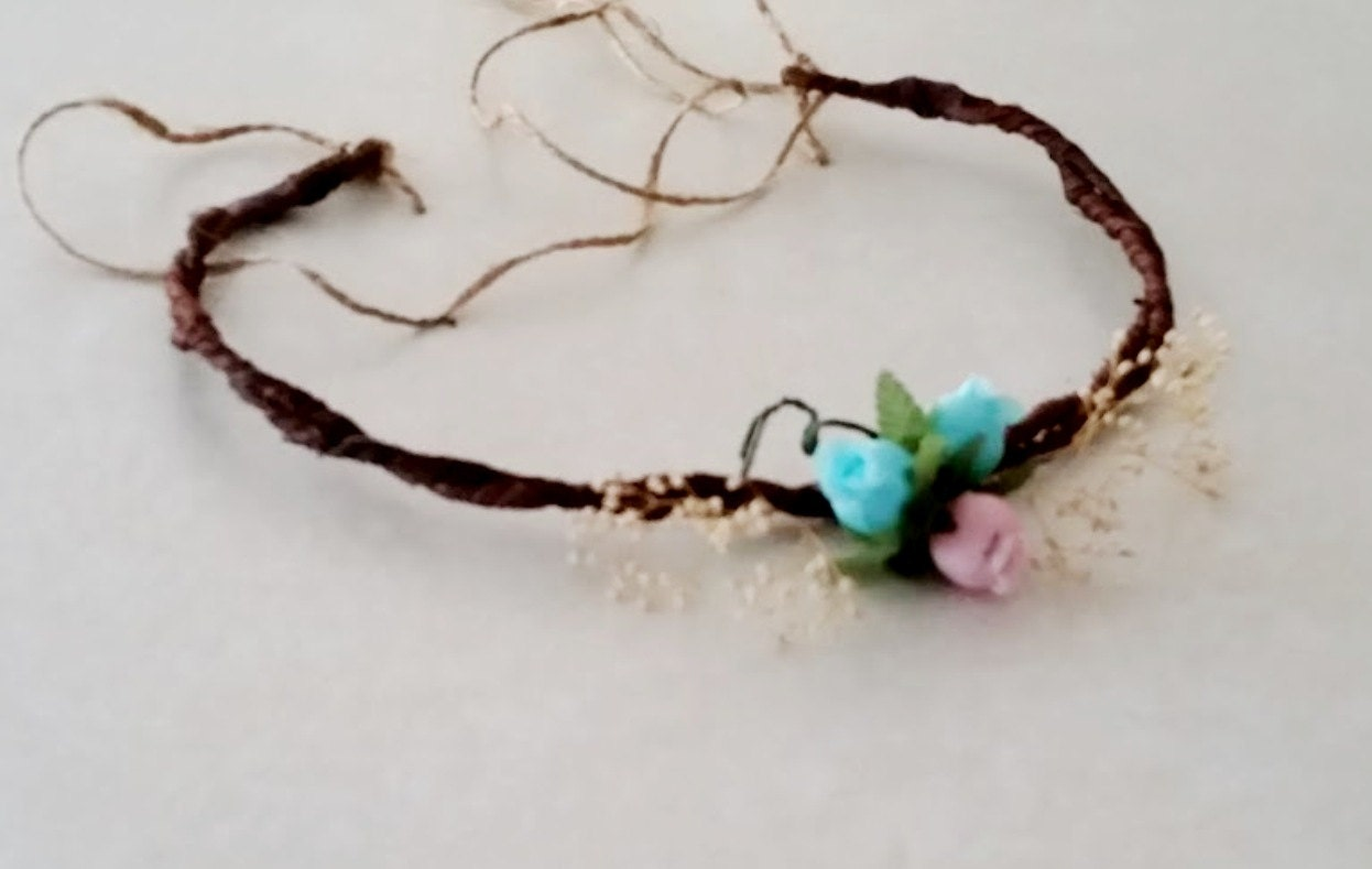 Handmade flower crown base diy craft supply bride set of 2 headband sold by budgetweddingbouquet izmirmasajfo Images