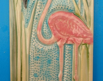 Flamingo, Subway Tile, Handmade, Decorative, Backsplash, Florida