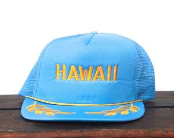 Trucker Hat Vintage Snapback Hat Baseball Cap Hawaii Captain Travel Beach Island Vacation