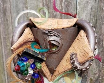 Mini top hat with lights, steampunk, festival, kraken, halloween, tentacles, cork, pirate, octopus