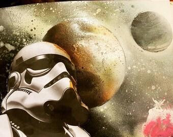 Contomplashon of a storm trooper