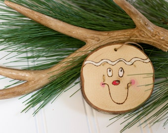 Gingerbread Man Wood Christmas Ornament