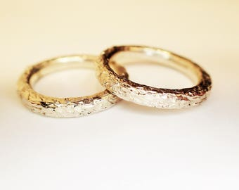 WEDDING rings solid SILVER 925
