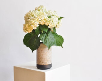 Black and White, Minimal Vase - Available to Ship Now