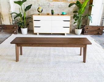 Modern Walnut Bench, Midcentury Modern Bench, Walnut Bench, Dining Table Bench, The Vermonter