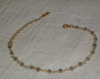 Bracelet sterling silver and gold 22K_Vraie Labradorite_Fait main_Creation.