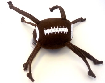 Football, Stuffed, Baby Toy, Knotted, Strings, Personalization, Logo, Jingle, Rattle, Game, Brown, sports, ball