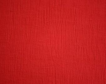 "Red Cotton Gauze Fabric 52"" Wide Per Yard"