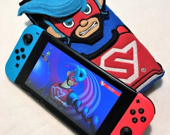 Springman Nintendo Switch Case Gaming Accessory Carry Case Nintendo ARMS Embroidery