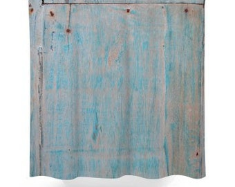 Rustic Wood Image Shower Curtain