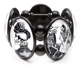 Day of the Dead Five-Cameo Stretch Bracelet