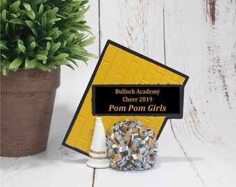 CLOSEOUT - Cheer Resin Award - Cheerleader Trophy - Free Personalization - Great for School and Cheer Club Awards Banquets