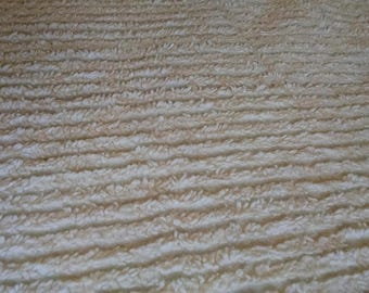 Chenille Bedspread  Ivory Colored Heavy  Double Bed Covering Mid Century  Vintage Bedding  104 Long 93  Wide #3