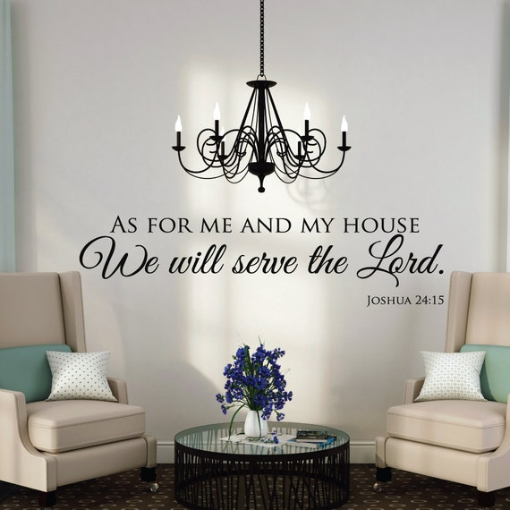 As For Me And My House Wall Decals Quotes Christian Wall