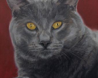 Custom pet portrait painting, Cat Portrait, Cat Painting - oil painting on stretched canvas. ***Lowest price is 50% DEPOSIT price***