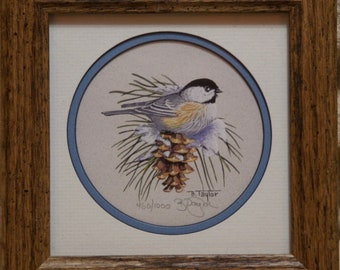 B. Taylor Bird on a Pinecone Signed and Numbered Print