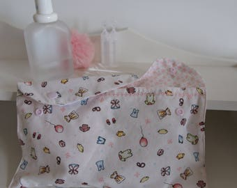 """Pocket diaper, wipes or jewellery """"charm"""", embroidered and snap"""
