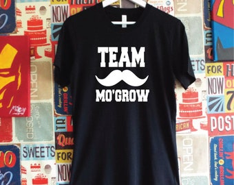 Team Mo Grow Moustache Shirt. Funny Movember T-Shirt  Moustache Gift. Movember Shirt. Mustache Shirt.