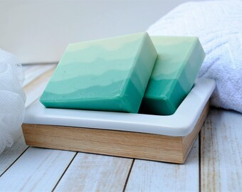 Eucalyptus Mint Homemade Soap -  Homemade Spearmint Eucalyptus Soap - Clean Scented Goat Milk Soap - Artisan Eucalyptus Mint Soap