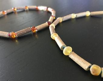 Hazelwood necklace - teething necklace - amber teething necklace