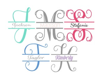 Initial and name monogram - Buy one get one FREE with your first purchase