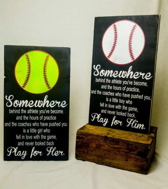 Play For Her Softball Bedroom Decor Wooden Sign Player Giftrhetsy: Softball Bedroom Decor At Home Improvement Advice