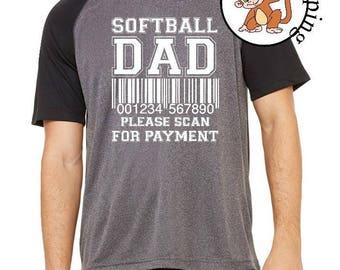 Softball Dad - Softball Shirt - Dad Birthday Shirt