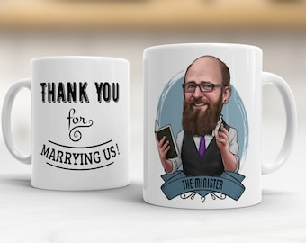 Officiant Gift, Officiant Gift Idea, Gift for Wedding Officiant, Pastor Gift Ideas, Ordained Minister, Thank you Gift Ideas