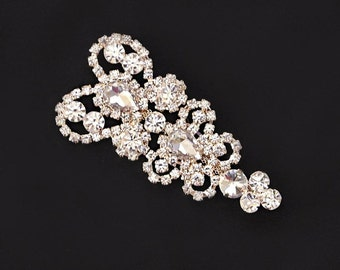 ROSE GOLD Rhinestone Applique,Bridal Applique,DIY Applique,Headband, Shoes,Sash,Wedding Accessories,Rhinestone trim