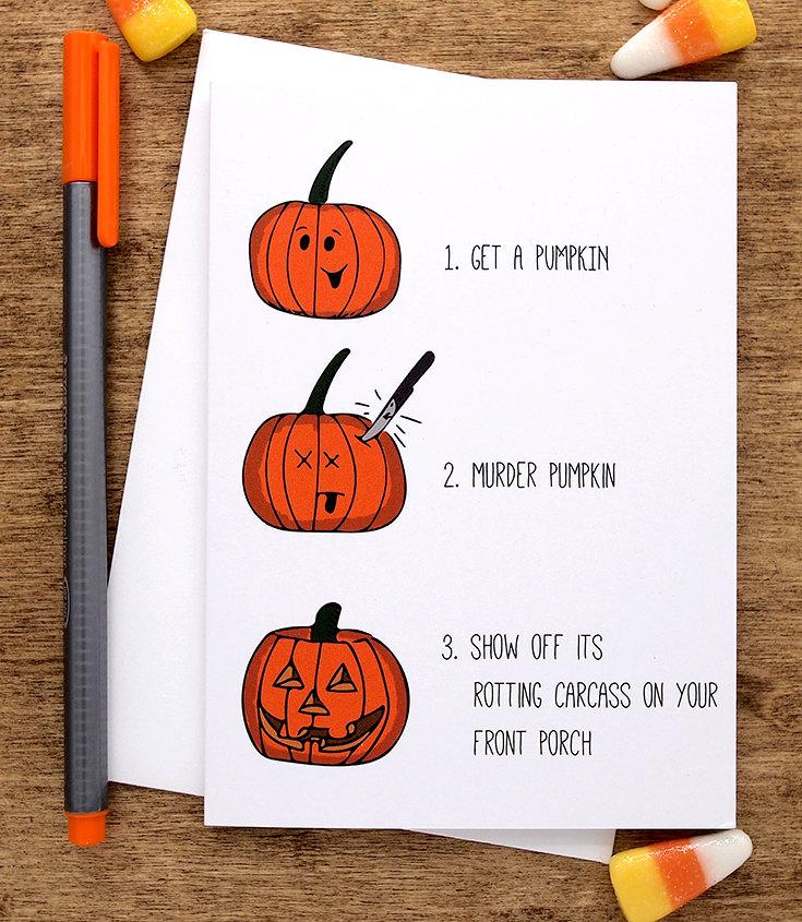 Funny Halloween Card Halloween Greeting Card Funny Happy