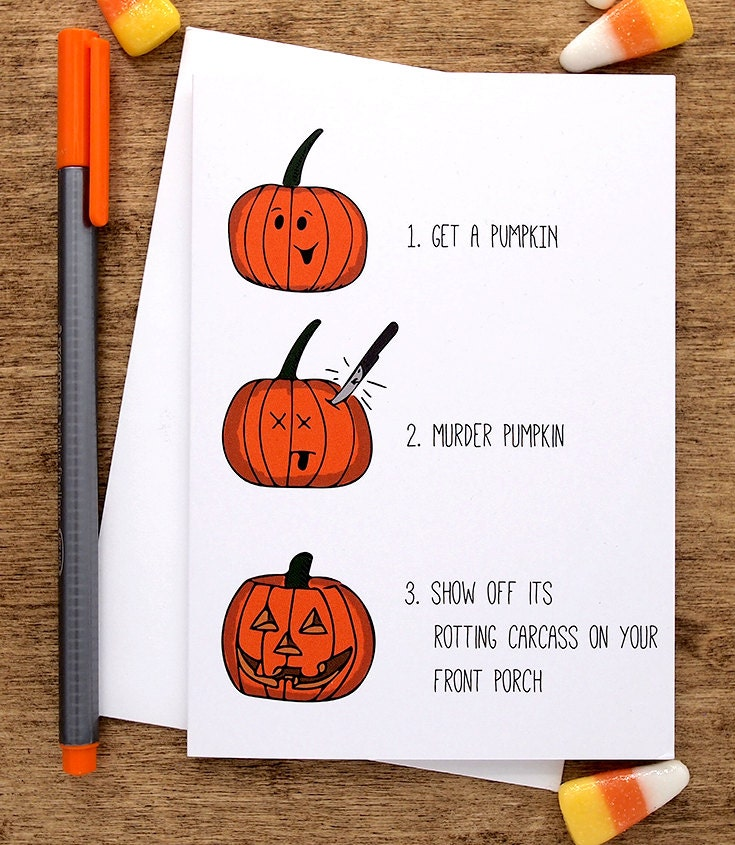 Funny halloween card halloween greeting card funny happy zoom bookmarktalkfo Images