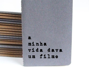 Portuguese notebook -  MOLESKINE® notepad; Retro notebook; quote notebook; Portuguese journal; Portugal; Personalized cover notebook.