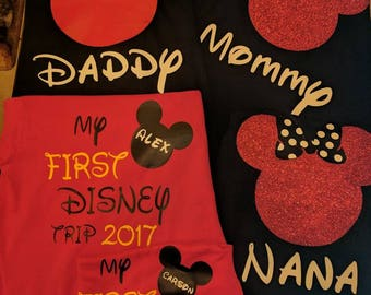 Custom Family My 1st Disney Trip - Mom, Dad, Kids - Names / Mouse