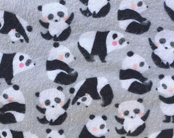 Made to Order Panda Unisex Adult Flannel Pajama Pants