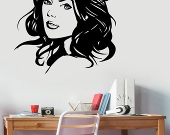 Wonder Woman Wall Art Decal Vinyl Sticker Marvel Comics Girl Superhero Decorations for Home Housewares Living Kids Room Bedroom Decor wmv7