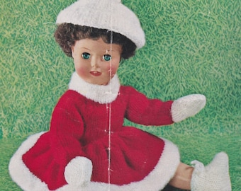 "Vintage Lee Target 6310 knitting pattern for an 18"" dolls skating outfit - digital download"