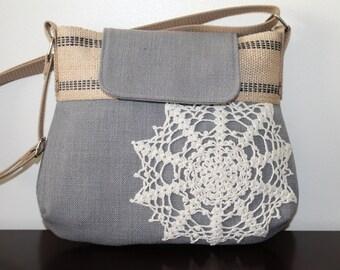 Gray n Doily Bag medium Cross Body