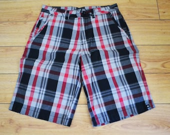 Quicksilver, Shorts ,Black, Red,plaid Men's ,Size 29