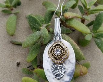 Sterling Collage Spoon Pendant