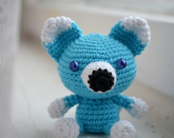 Blue Fox. Amigurumi.
