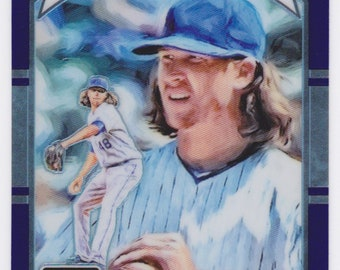 Mlb Jacob deGrom Donruss Optic DK Purple Refractor #18 New York Mets