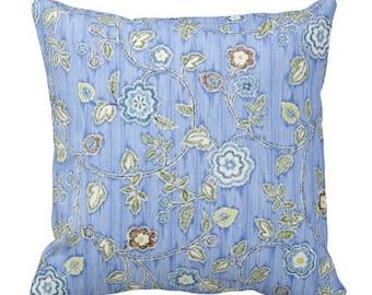 pillow covers, floral pillows, blue pillows, couch pillows, decorative pillow, blue throw pillows, accent pillow, toss pillow, Iman fabric