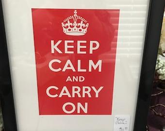 Keep Calm Framed Print