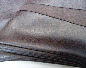 Coupon 50 x 50 cm - faux leather - Brown bronze.