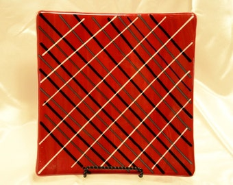 Geometric Red Dish