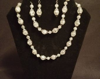 Classy Handmade 3pc Necklace, Bracelet & Earring Set in Multiple Colors