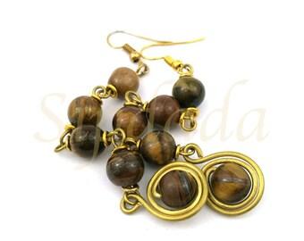 African earrings, African jewelry, earrings, boho jewelry, bohemian style, boho style, statement earrings (0006)